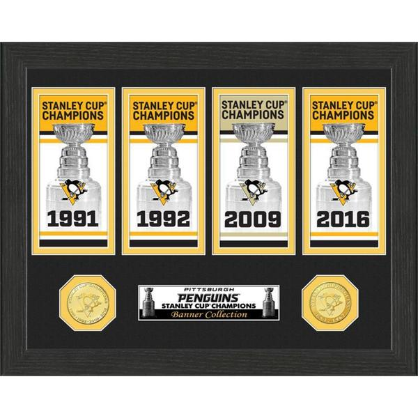 "Pittsburgh Penguins ""4-Time Champions"" Banner Collection 21903971"