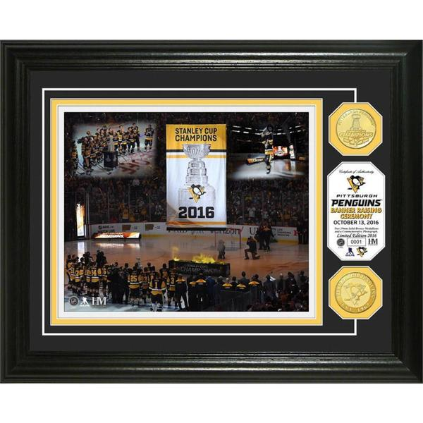 "Pittsburgh Penguins 2016 Stanley Cup Champions ""Banner Raising"" Bronze Coin Photo Mint 21904012"