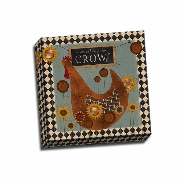 Picture It on Canvas 'Something to Crow About' 12-inch x 12-inch Gallery Wrapped Art