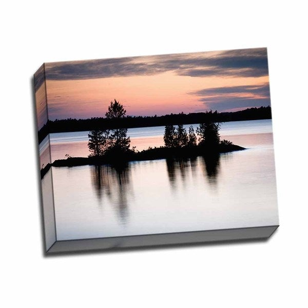 Picture It on Canvas 'Twilight on the Lake II' 20 x 16 Wrapped Canvas