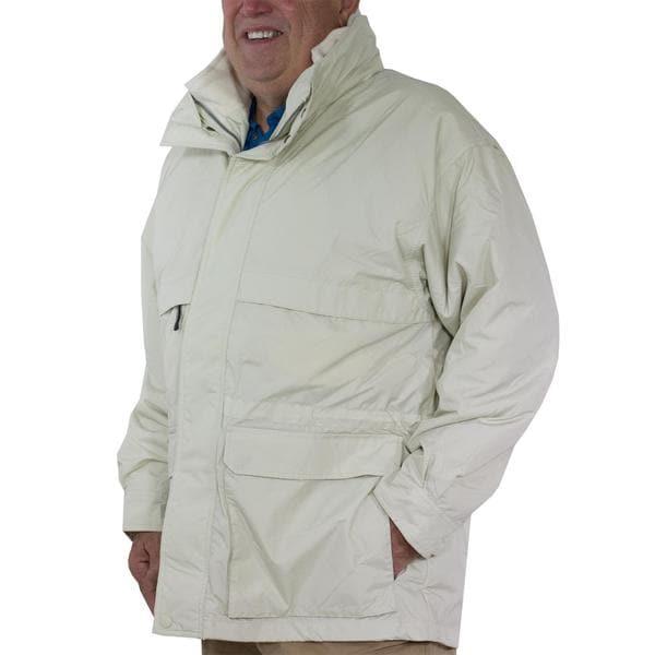 Stormtech TPX-2 Men's Explorer White Nylon 3-in-1 Water-resistant Parka Coat