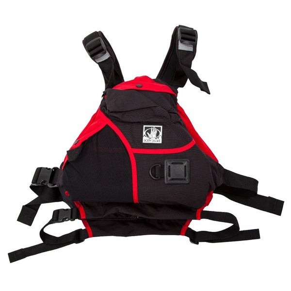 Body Glove Red and Black Nylon Trench Paddling Vest