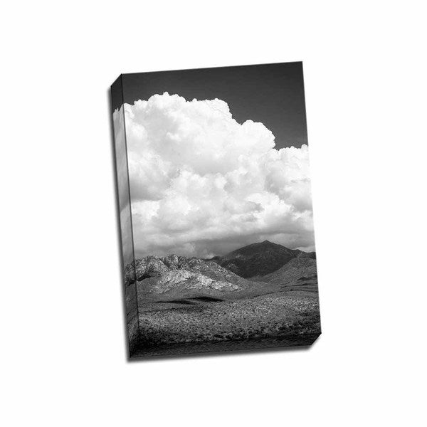 Picture It On Canvas 'The Coming Storm' Black/White Wrapped Canvas Artwork
