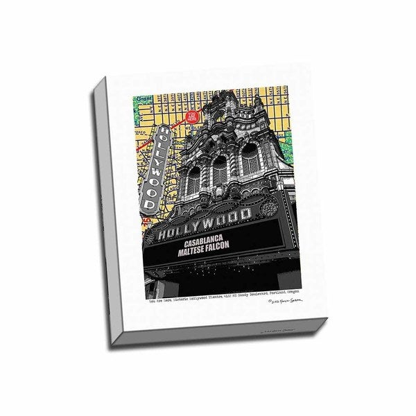 Picture It on Canvas 'Hollywood Theatre Portland' 16-inches x 20-inches Wrapped Canvas