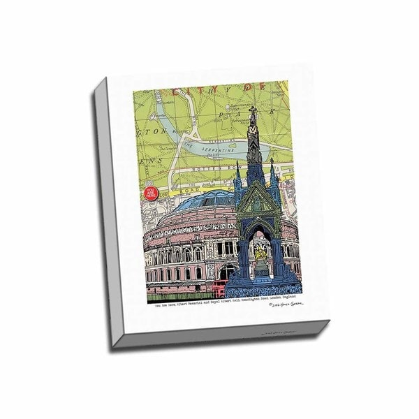 Picture It on Canvas 'Albert Hall and Memorial' 16-inch x 20-inch Wrapped Canvas