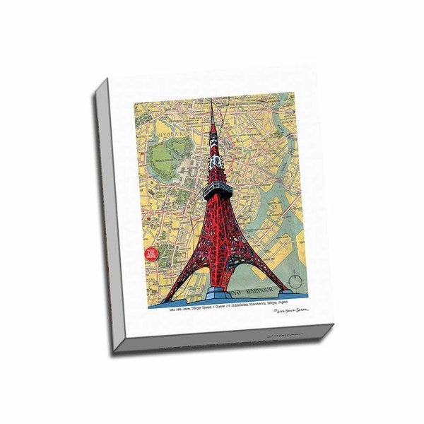 Picture It on Canvas 'Tokyo Tower' 16-inch x 20-inch Wrapped Canvas Wall Art