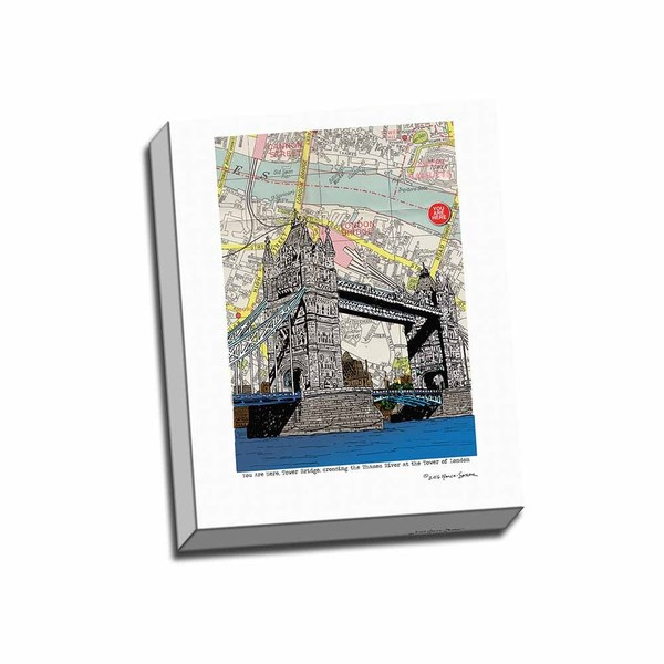 Picture It on Canvas 'Tower Bridge London' 16-inch x 20-inch Wrapped Canvas Wall Art