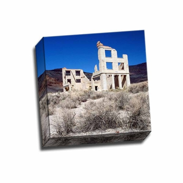 Rhyolite Ruin II 12x12 Wrapped Canvas