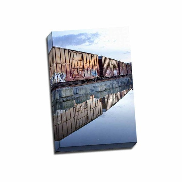 Picture It on Canvas 'Rail Art Reflections' Wrapped Canvas Wall Art