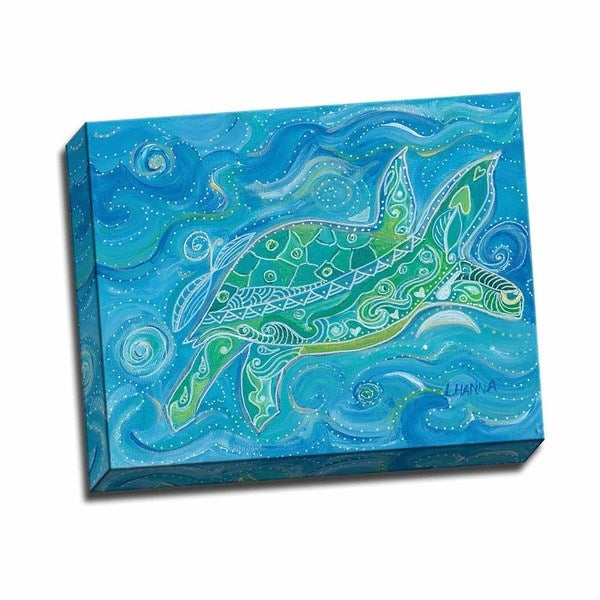 Sea Turtle 20x16 Wrapped Canvas