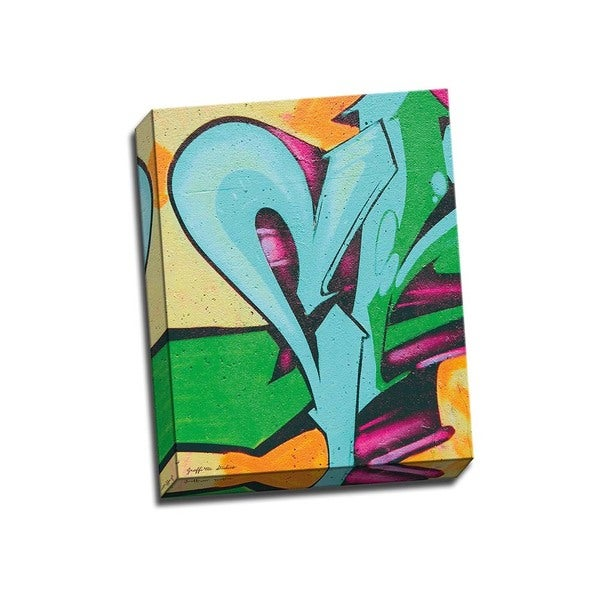 Picture It on Canvas 'Heartbeat Graffiti Abstract' 16-inch x 20-inch Gallery Wrapped Wall Art