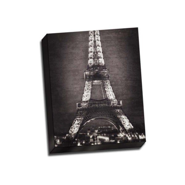 Picture It on Canvas 'Eiffel Lights Band W' 16-inch x 20-inch Wrapped Canvas