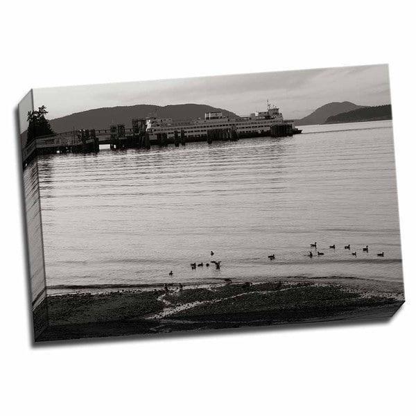 San Juan Ferry Dock I 24x16 Wrapped Canvas