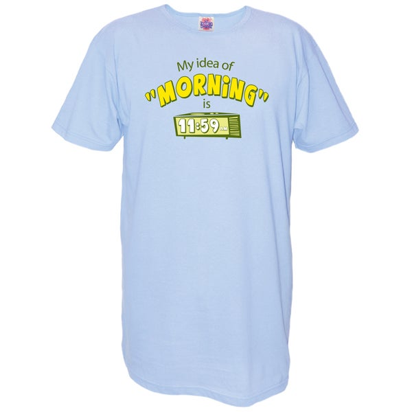 My Favorite Nightshirt Blue Cotton 'My Idea of Morning Is 11:59' Nightshirt