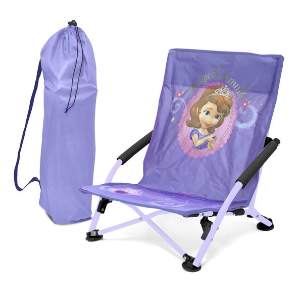 Disney Purple/ Pink Plastic Folding Lounge Chair