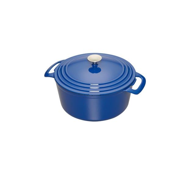 Cooks 3.5 Quart Blue Enameled Cast Iron Dutch Oven