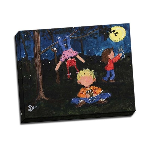 Picture It on Canvas 'Playing at Night' Wrapped Canvas Art