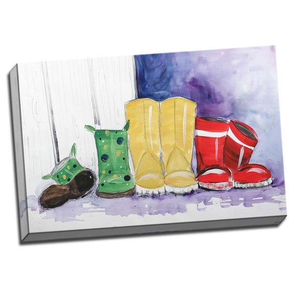 Picture It on Canvas 'Rain Boots' Wrapped Canvas