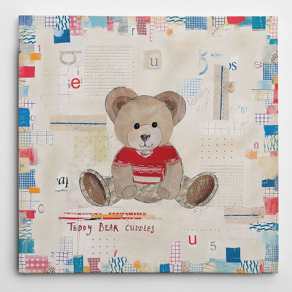 Picture It on Canvas 'Teddy Bear Cuddles' Canvas Wall Art 21912608