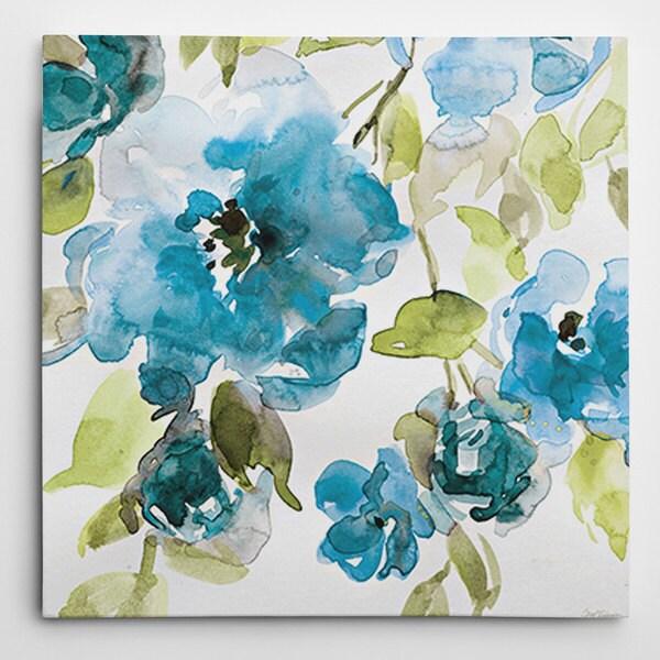 Wexford Home Carol Robinson's 'Belle's Blue I' Multicolored Canvas Artwork