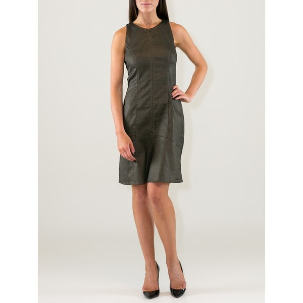 Metalic Bronze Cotton Blend Dress