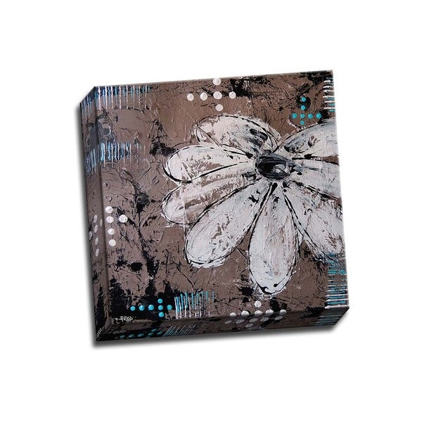 Fleur Cr?me 12x12 Wrapped Canvas
