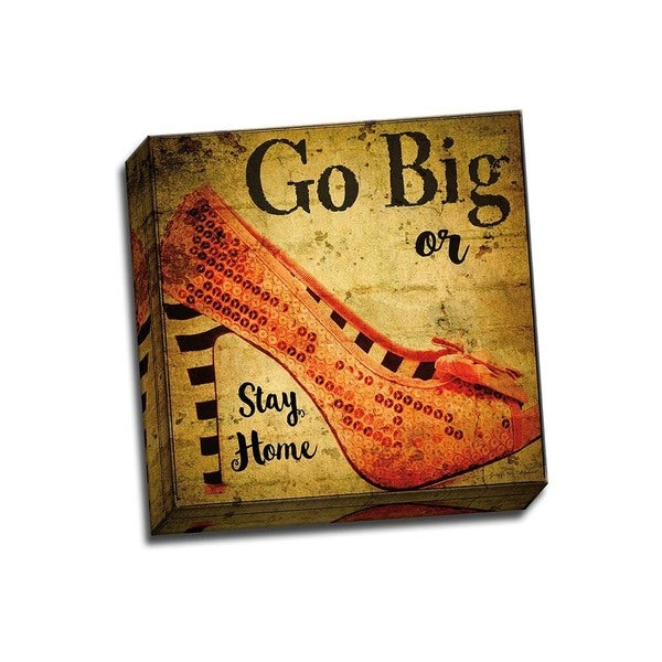 Picture It on Canvas 'Go Big or Stay Home' 12-inch x 12-inch Wrapped Canvas Art