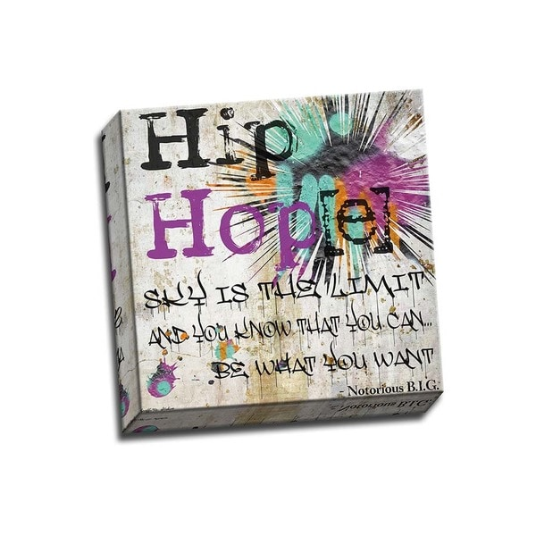 Picture It On Canvas 'Hip Hop Hope Sky is the Limit' Multicolored Wrapped Canvas Artwork