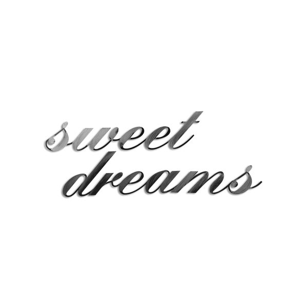 Letter2Word 'Sweet Dreams' Grey PVC Dimensional Decor