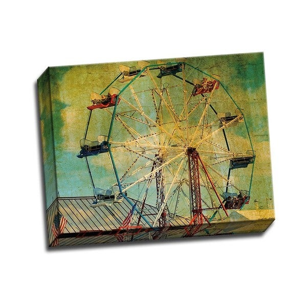 Picture It on Canvas 'Ride the Ferris Wheel' 14x11 Wrapped Canvas Wall Art
