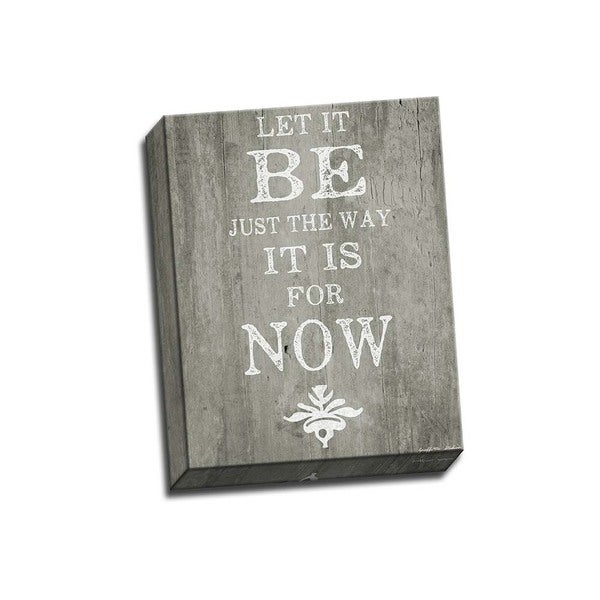 Picture It on Canvas 'Let it Be' Wrapped Canvas Wall Art (11 x 14)