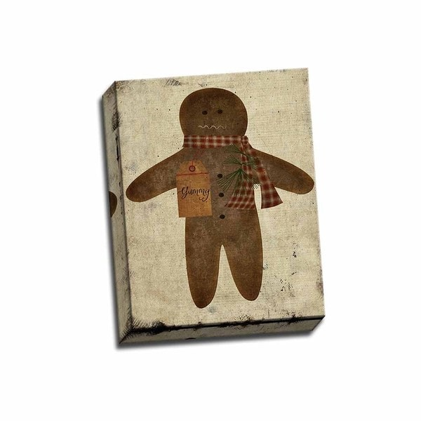 Ginger Bread Man 11x14 Wrapped Canvas