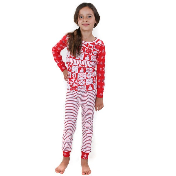 Jelly The Pug Red and White Cotton Leslie Sleepwear Set