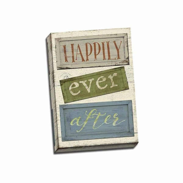 Picture It on Canvas 'Happily Ever After' 14 x 20 Wrapped Canvas Wall Art
