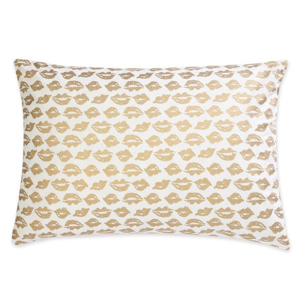 Betsey Johnson Regal Roses Metallic Lips Pillow