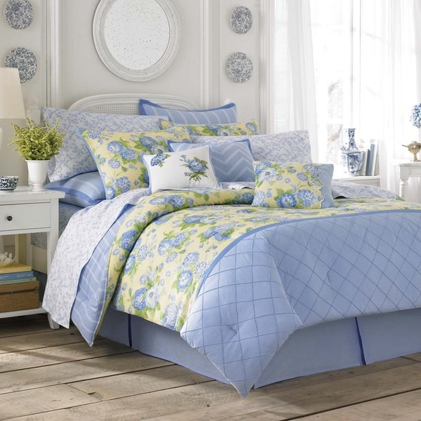 Laura Ashley Salisbury Blue & Yellow Floral Comforter Set