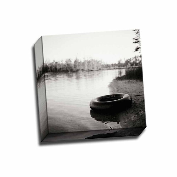 Picture It on Canvas 'Lonely Inner Tube' 12-inch x 12-inch Wrapped Canvas