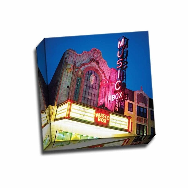Picture It On Canvas 'Music Box Theatre' Multicolored Wrapped Canvas Artwork
