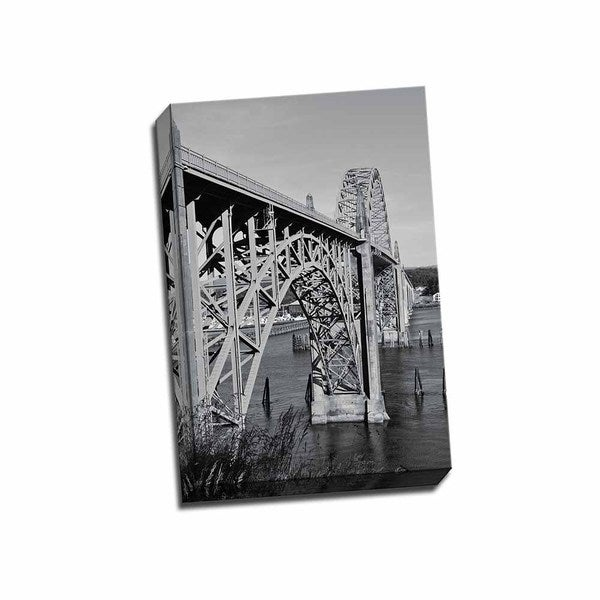 Picture It On Canvas 'St. Johns Arches II' Black/White Wrapped Canvas Artwork