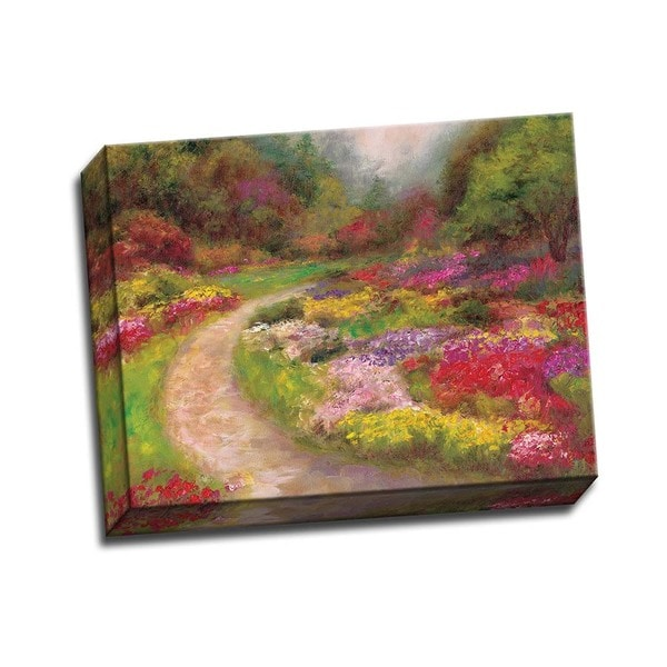 Butchart Gardens 14x11 Wrapped Canvas