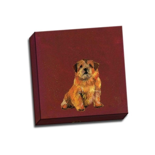 Picture It On Canvas 'Mans Best Friend I' Multicolored Wrapped Canvas Artwork