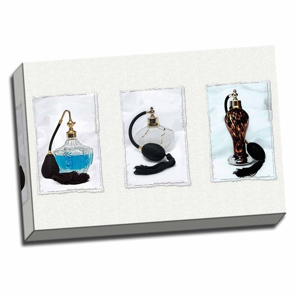 Picture It on Canvas 'Perfume Triptych I' Wrapped Canvas Art