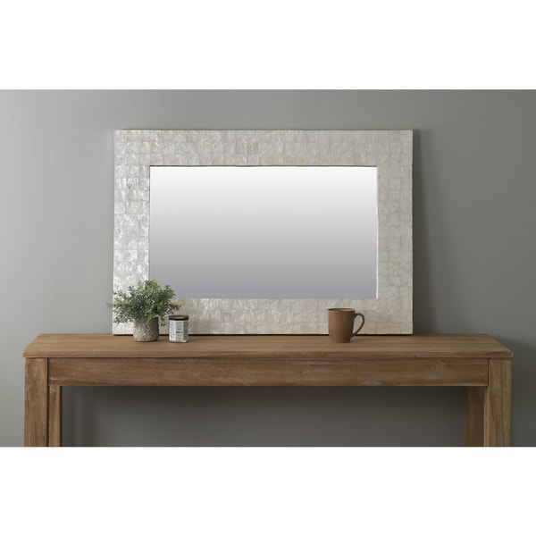 East At Main's Campbell Off-White Rectangle Natural Shell - Capiz Wall Mirror