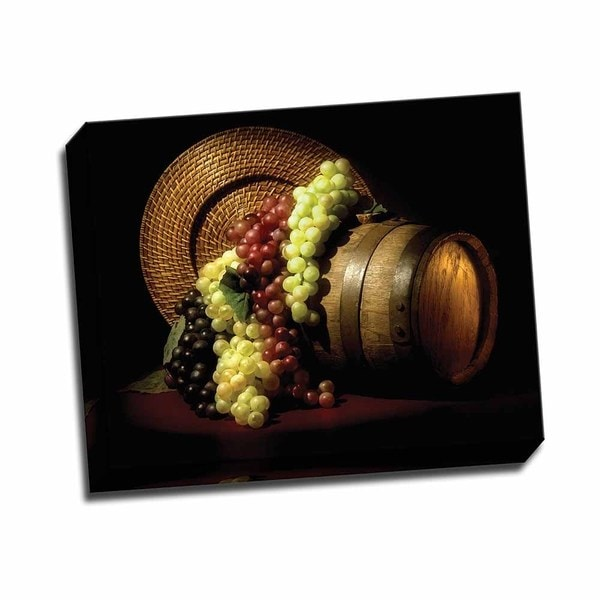 Wine Grapes 20x16 Wrapped Canvas
