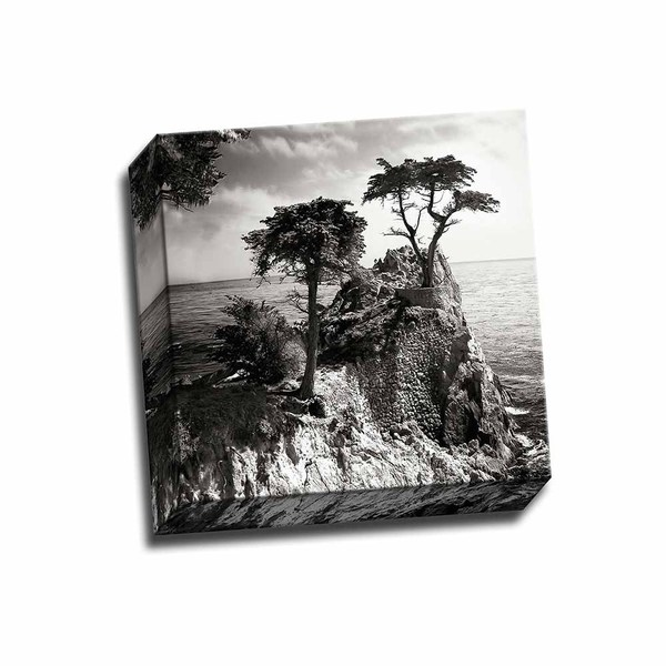 Ocean Cliff Square I 12x12 Wrapped Canvas
