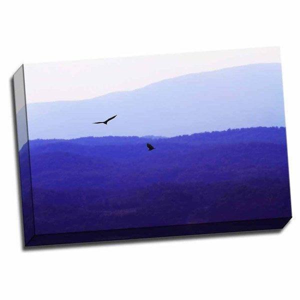Picture It on Canvas 'Blue Ridge III' Wrapped Canvas Art
