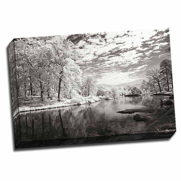 Picture It on Canvas 'Youngs Pond' 24-inch x 16-inch Wrapped Canvas