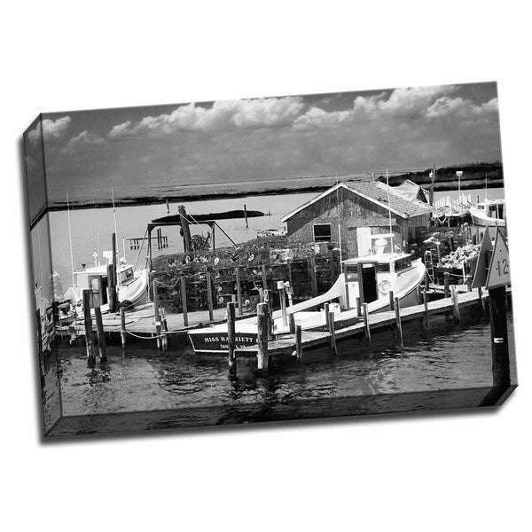 Picture It on Canvas 'Working Boats' Ready-to-hang Wrapped Canvas Wall Art