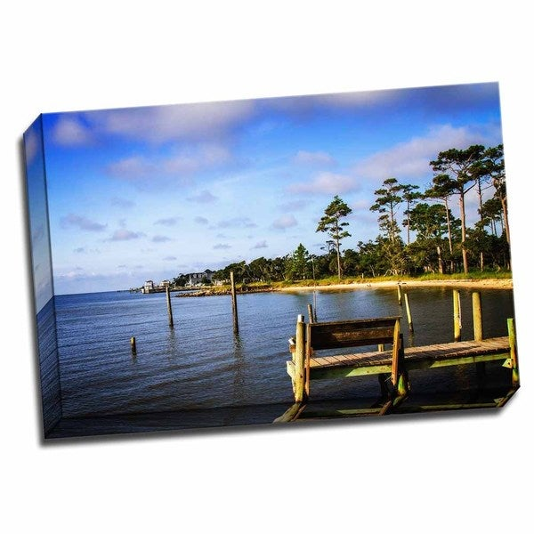 Cedar Island Bay 24x16 Wrapped Canvas