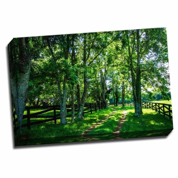 Picture It on Canvas 'Green Springs Farm III' Wrapped Canvas Wall Art